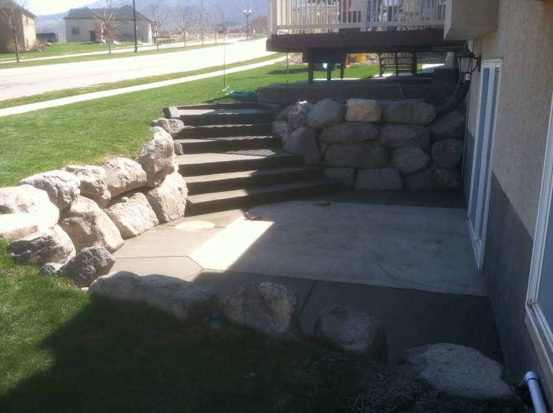 Rocky mountain concrete specialists projects for Walkout basement retaining walls